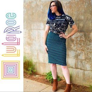LuLaRoe Cassie Pencil Skirt Striped